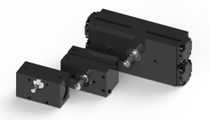 Compact rotary actuators, patented AL75, robust A032, and powerful A752