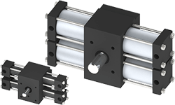 Dual Rack Tie Rod Rotary Actuators