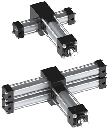 Single and dual rack nitpicker actuators