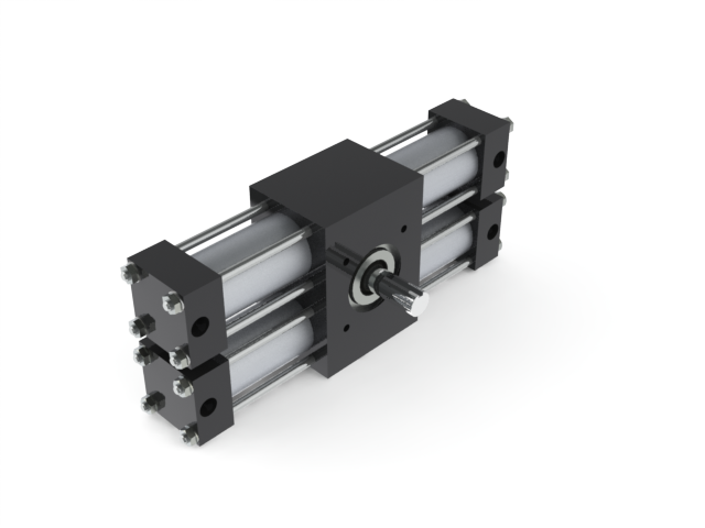 Dual rack stepping actuators