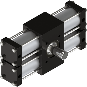 The A42 is our biggest rotary actuator and it features a one-piece heat-treated alloy steel pinion shaft, two racks for zero backlash at end of stroke, and billions of flexible standard configurations