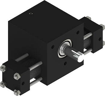 Rotomation S1 Stepping Actuator will provide you with an incremental drive that will rotate in one direction and coast to a stop as the inertial load decelerates
